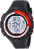 Armitron Sport Men's 40/8288RED Large Metallic Red Accented Black Resin Strap Chronograph Digital Watch