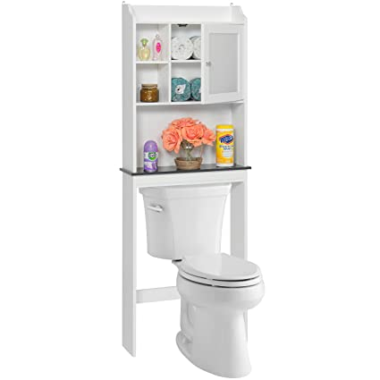 Amazon.com: Best Choice Products Bathroom Over-the-Toilet Space ...