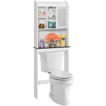 best choice products bathroom space saver storage cabinet white