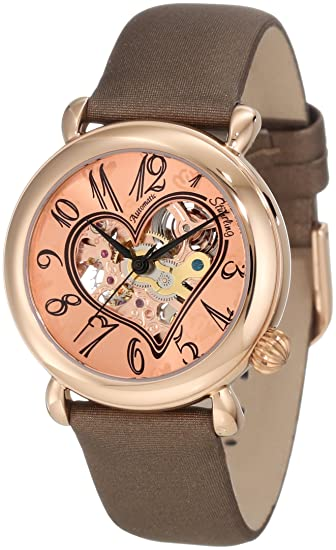Stührling Original 109.1245E14 - Reloj analógico para mujer, correa de cuero, color marrón: Stuhrling Original: Amazon.es: Relojes