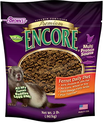Amazoncom Fmbrowns Encore Premium Ferret Food Dry Pet Food