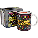 Arcade Veteran Mug - Cool retro gift idea present for Dad Him Fathers Day - Frogger Pac Man