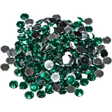 Pack of 1000 x Green Crystal Flat Back Rhinestone Diamante Gems 4mm