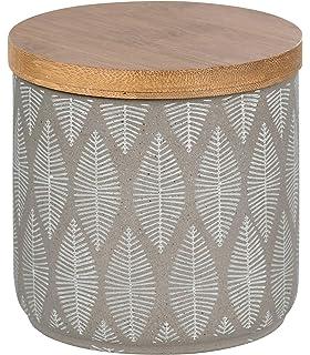 Wenko 23676100 Tupian Beige-Bote de cerámica para Guardar algodón, 5 x 10 cm, Ø 10 x 10, 5 cm: Amazon.es: Hogar