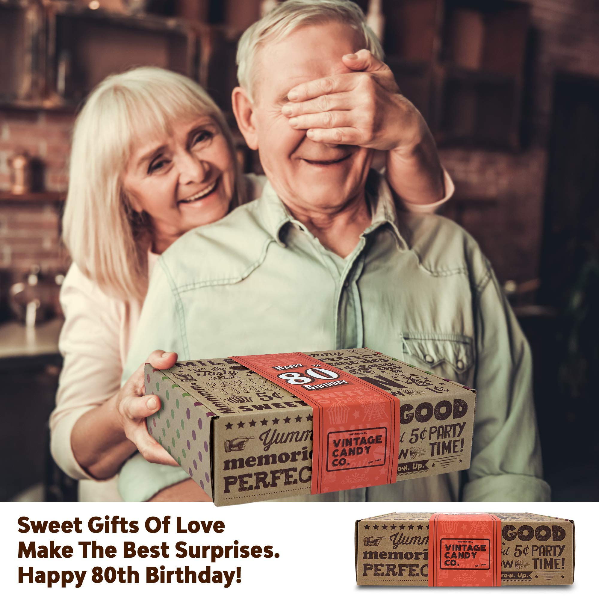 VINTAGE CANDY CO. 80TH BIRTHDAY RETRO CANDY GIFT BOX - 1939 Decade Nostalgic Childhood Candies - Fun Gag Gift Basket for Milestone EIGHTIETH Birthday - PERFECT For Man Or Woman Turning 80 Years Old by Vintage Candy Co. (Image #6)
