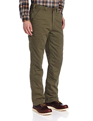 Amazon.com: Carhartt Men's Washed Twill Dungaree Flannel Lined ...