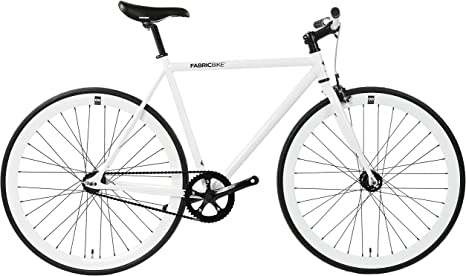 FabricBike- Bicicleta Fixie Blanca, piñon Fijo, Single Speed ...