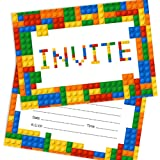 lego birthday party invitations pack of 10 invitations amazon co