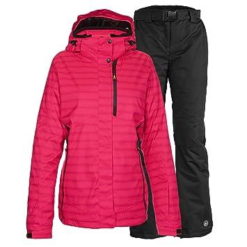 a19da0d8144c Killtec Combinaison de ski femme veste fonctionnelle Malaya Rose Pantalon  de ski femme Noir Sélection FR