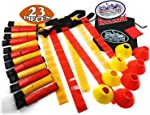 Matty's Toy Stop Deluxe 14-Man Flag Football Set with 7 Yellow