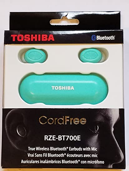 Toshiba True Wireless Stereo Sweat-Resistant Bluetooth Earphones Turquoise (RZE-BT700E)