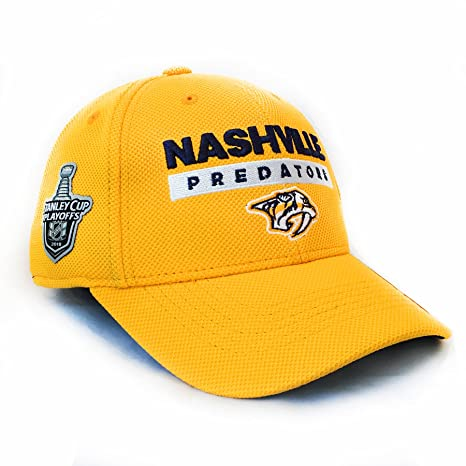6717b03af2e adidas Nashville Predators 2018 Stanley Cup NHL Authentic Pro Locker Room Flex  Cap - Small