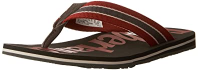 Timberland Men's Wild Dunes Fabic and Leather Flip Flops