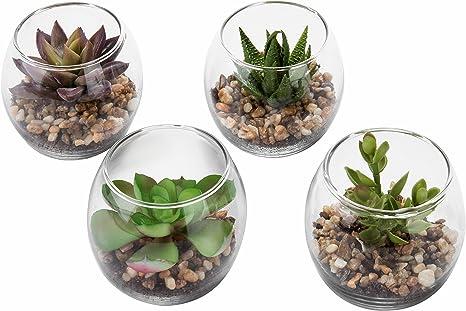 Mini Artificial Industrial Concrete Succulent Plant Desktop Vase Floral Decor