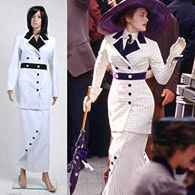 Sinocosplay Titanic Rose Boarding Suit White Suit Cosplay Costume ...