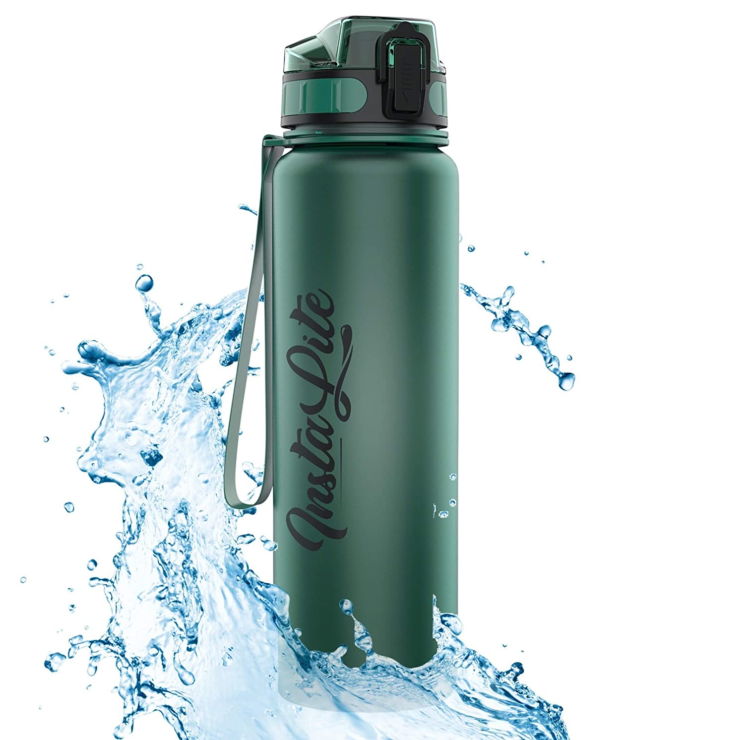 InstaLite 1 Litre BPA Free Tritan Sports/Gym Water Bottle
