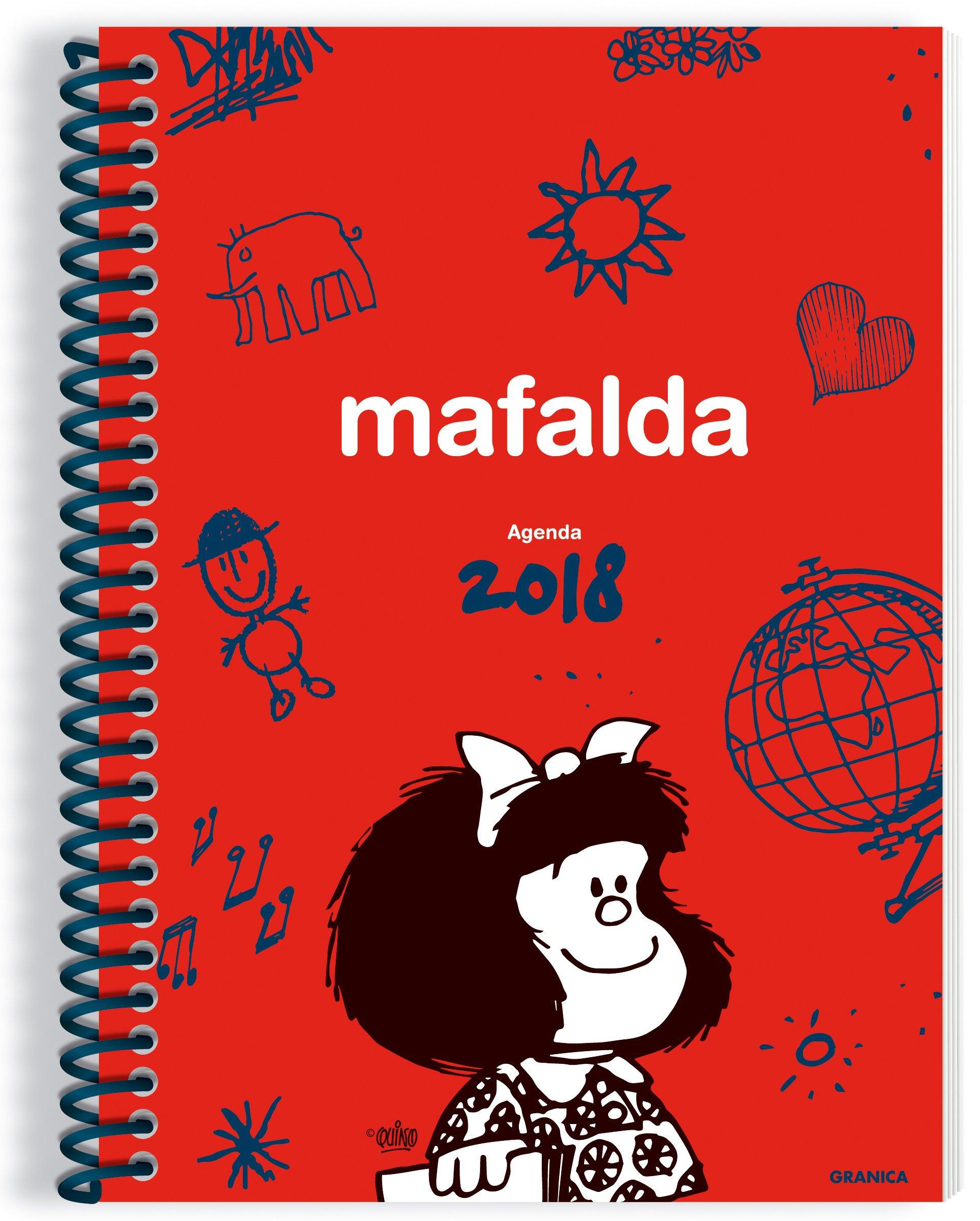 Mafalda 2018 Agenda anillada - Roja (Spanish Edition): Quino ...