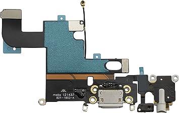 Cable flexible para conector de carga USB para iPhone 6 de 4,7 pulgadas, color blanco