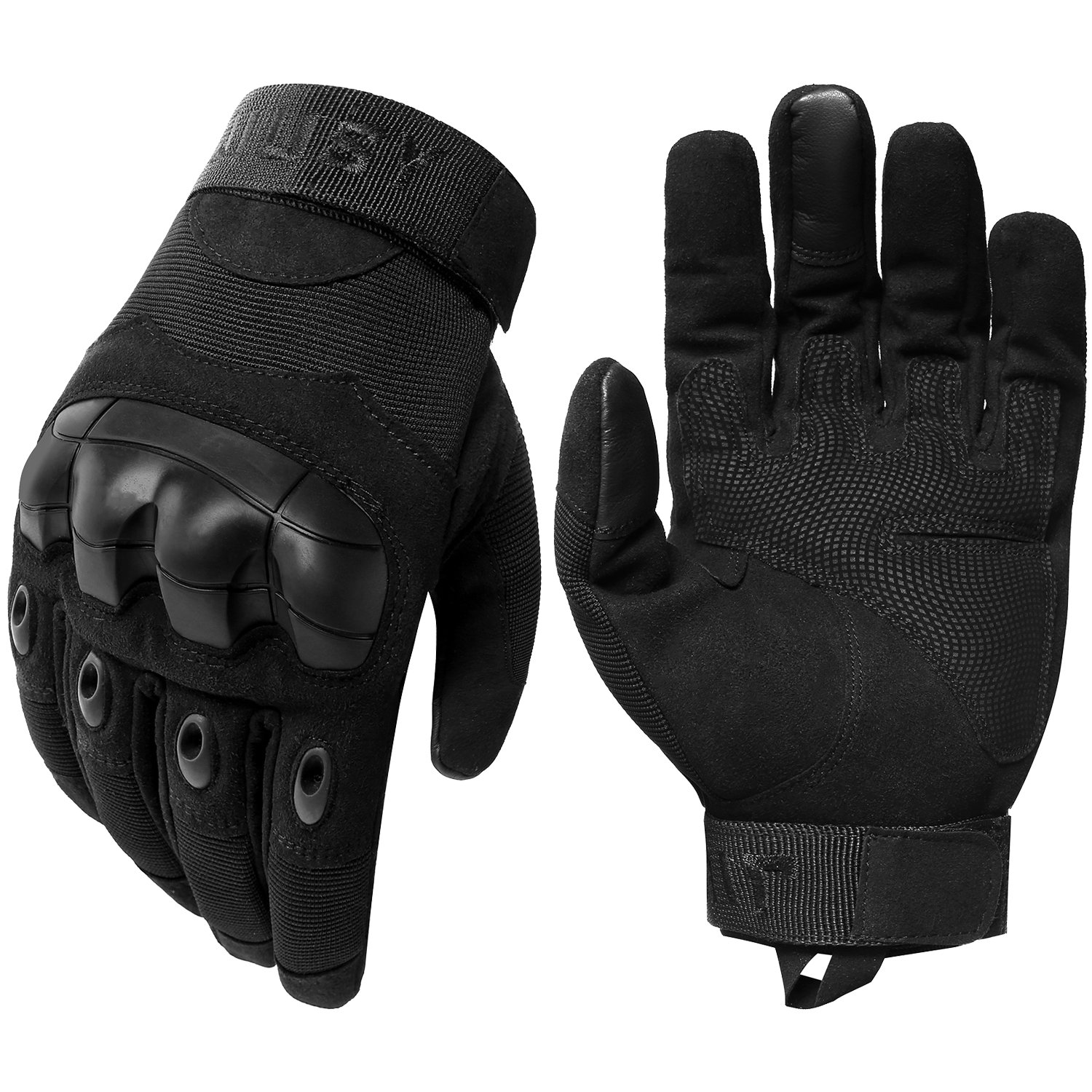 Black tactical gloves - Amazon Com Jiusy Military Rubber Hard Knuckle Tactical Gloves Full Finger Cycling Motorcycle Gloves Sports Outdoors