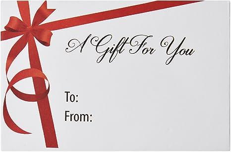 Amazon.com: 100 de Navidad Tarjeta de Regalo Sobres Holiday ...