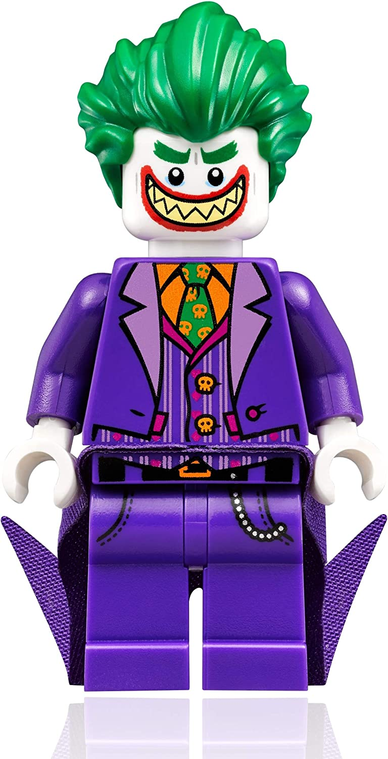 Amazon Com The Lego Batman Movie Minifigure Joker With Large Grin And Cape 30523 Toys Games