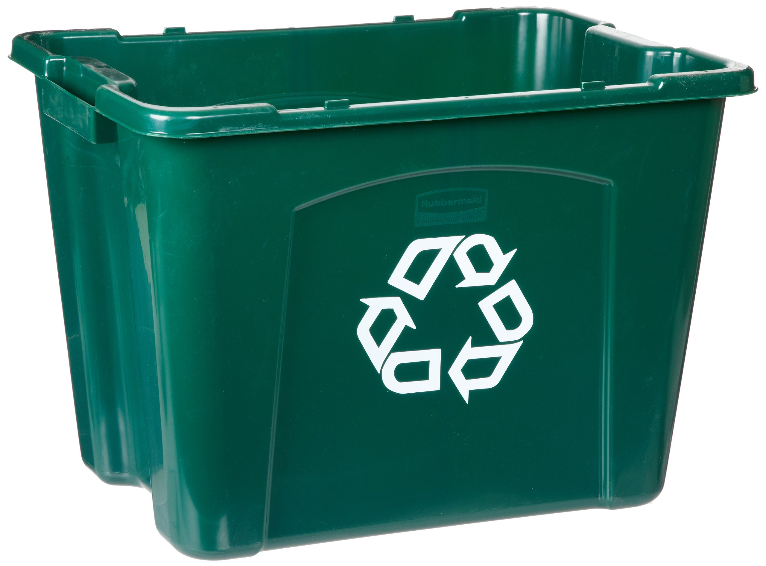 Rubbermaid Commercial  FG571473GRN Recycling Bin, 14 gallon, Green (Pack of 6)