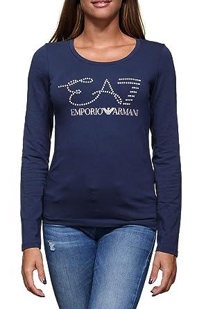 45a5a7870e0c0 Emporio Armani EA7 Tee Shirt Femme 6ztt84 - Tj12z 1554 Navy Blue   Amazon.fr  Vêtements et accessoires