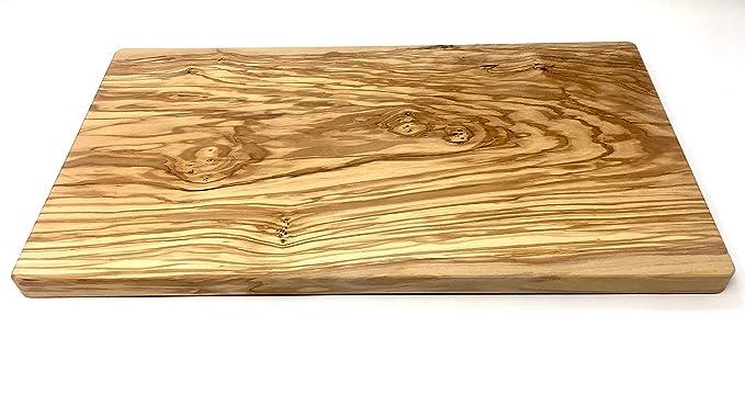 Amazon.com: Tabla de cortar grande de madera de oliva de ...