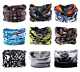 9PCS Outdoor Headscarves, Womens and Mens Headband