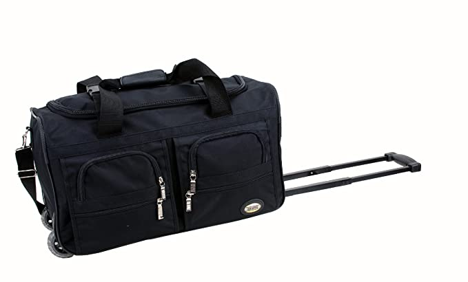 Amazon.com   Rockland Luggage Rolling 22 Inch Duffle Bag, Black ...