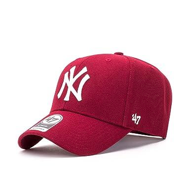 Gorra curva rojo oscuro snapback de New York Yankees MLB MVP de 47 Brand - Rojo, Talla única: Amazon.es: Ropa y accesorios