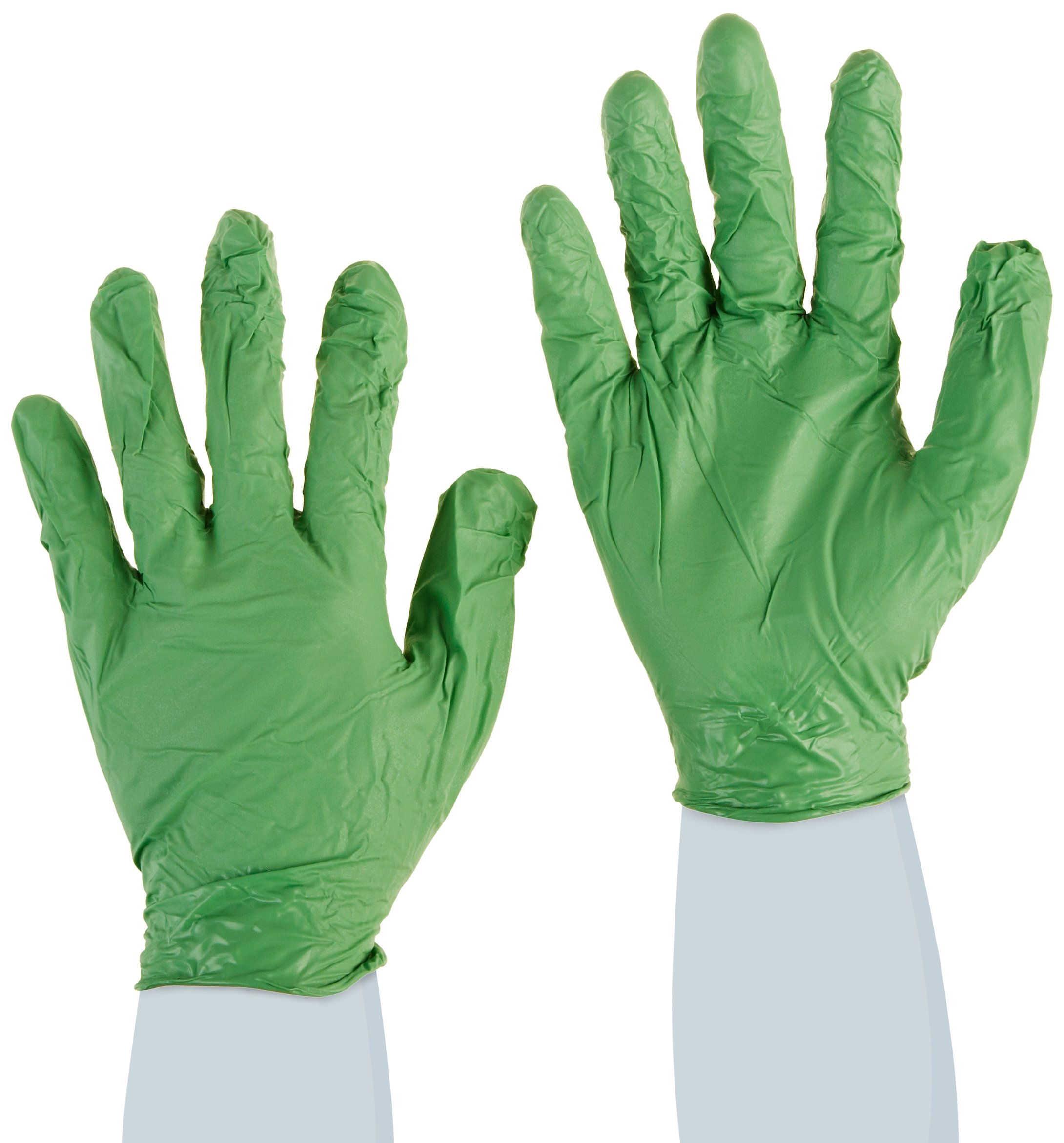 Showa Best 6105PFXL GreeN-DEX Biodegradable Industrial Grade Nitrile Glove, Disposable, Powder Free, 4 mil Thickness, 9-1/2'' Length, X-Large, Green (Pack of 100)