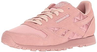 491c90bc308f Reebok Unisex CL Leather Satin Sneaker