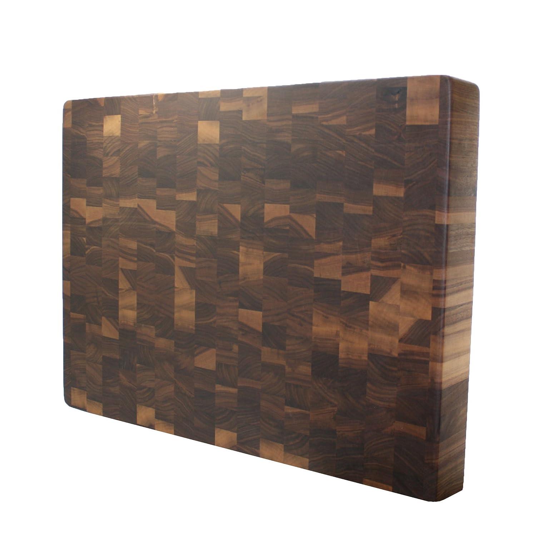 Kobiブロックウォールナット木目集成木製カッティングボード18