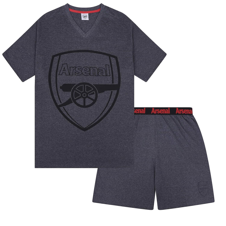 Arsenal FC Official Soccer Gift Mens Loungewear Short Pajamas