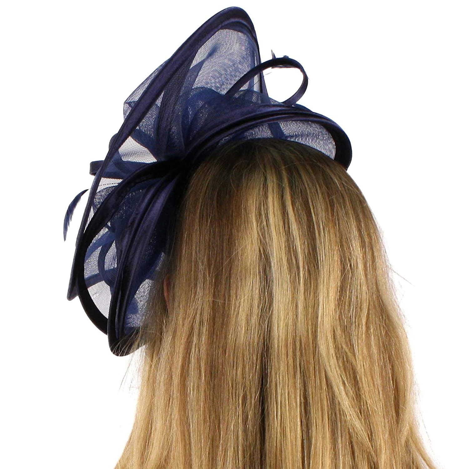 Feathers 3 Tier Layer 2 Tone Headband Fascinator Millinery Cocktail Hat SK Hat Shop