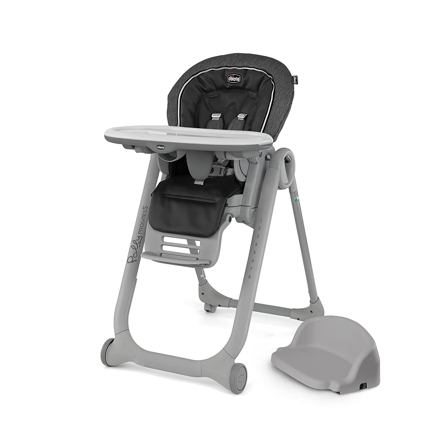 Chicco Polly Progress 5-in-1 Highchair, Minerale