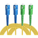 Jeirdus LC SC FC ST in fibra ottica cavo jumper cavo patch Simplex single-mode 50M//160ft LC-SC