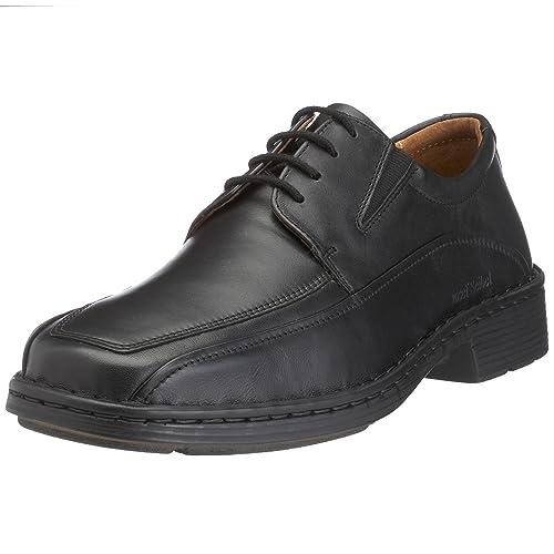Talcott - Zapatos de cordones de cuero para hombre Negro Negro, color marrón, talla 42 Josef Seibel