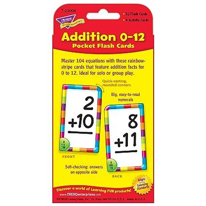 Amazon.com: Addition Pocket Flash Card Game: Toys & Games