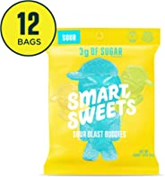 SmartSweets Sour Blast Buddies 1.8 Ounce (Pack of 12), Candy With Low-Sugar (3g) & Low Calorie (80)- Free of Sugar Alcohols