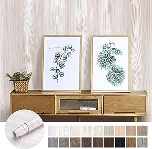 KINLO Pegatina de Mueble de Madera Ropa 0,61 * 5M Autoadhesivo Papel Pintado Impermeable para Muebles/Cocina/Baño Color (2 Rollo, Madera 2): Amazon.es: Hogar