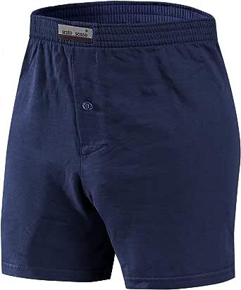 Sesto Senso Pijama Pantalon Corto Hombre Algodón 1-2 Pack Pantalón de Dormir Cuadros o Liso: Amazon.es: Ropa y accesorios