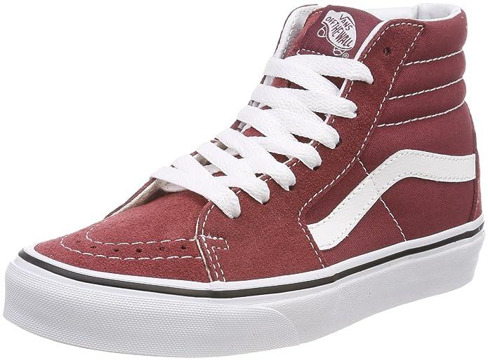 Vans Sk8-hi Schuhe Unisex-Erwachsene Leder u. Textil rot (Apple Butter)
