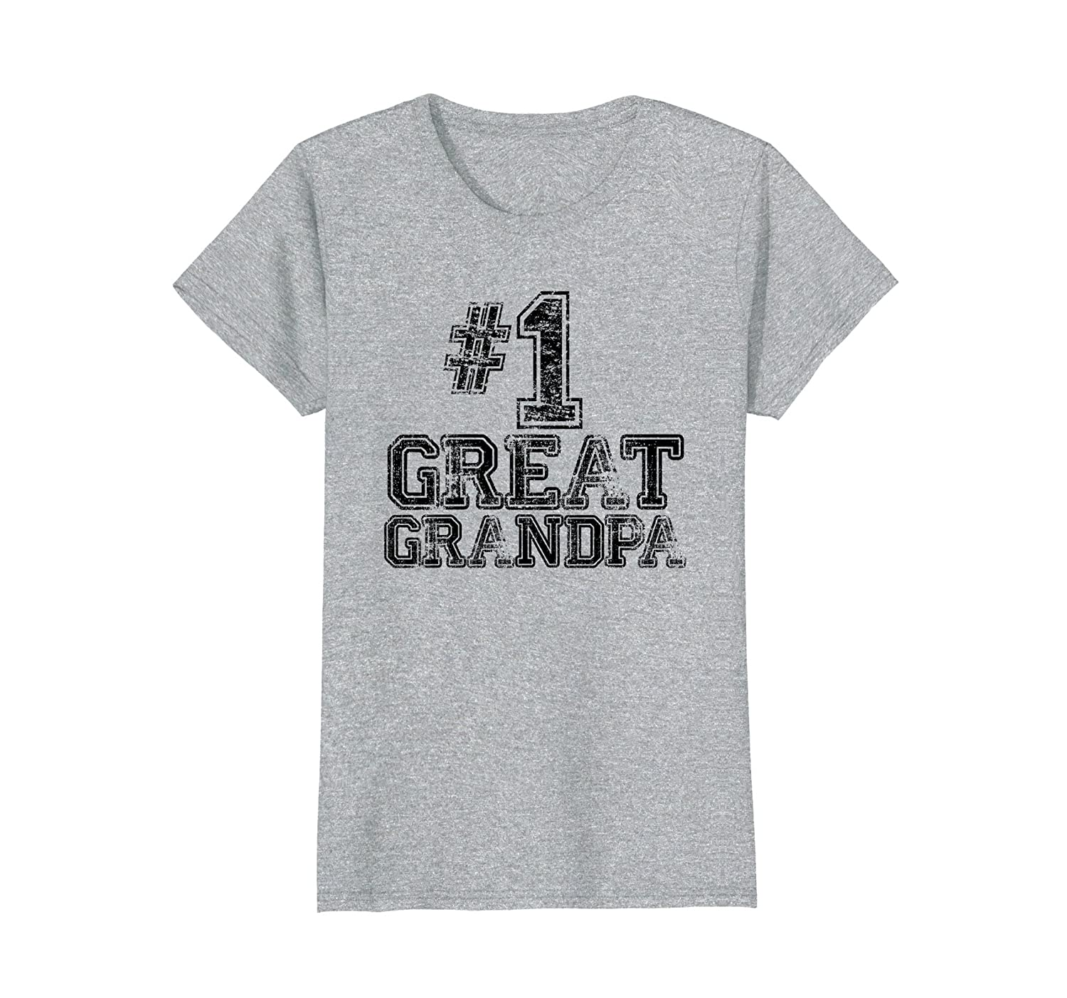 #1 Great Grandpa T Shirt   Number One Sports Jersey Gift Tee-ln