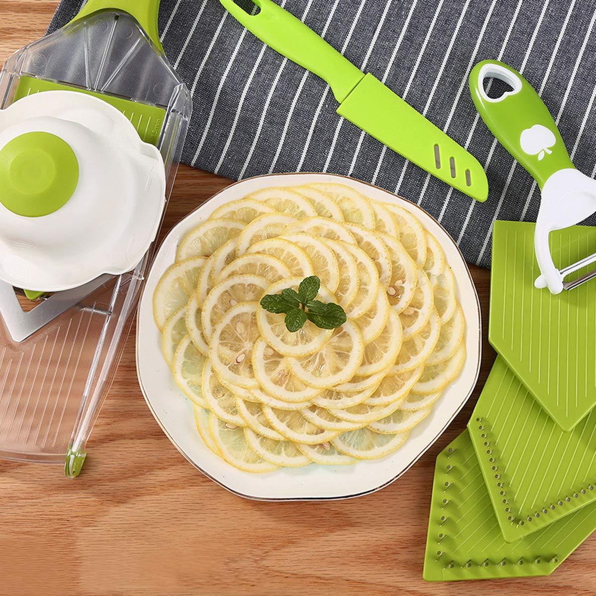 mit 4 V-Blade Klingen Perfekter Küchenhelfer Ideal Zum Hobeln von Obst und Gemüse ACMEDE Gemüsehobel/Küchenhobel