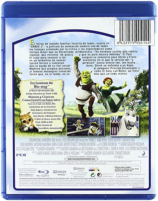 Amazon.com: Shrek 2 (Blu-Ray) (Import Movie) (European Format - Zone B2) (2011) Andrew Adamson; Kelly Asb: Movies & TV