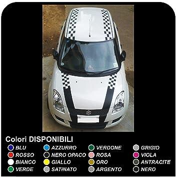 Suzuki Swift Suzuki Swift Auto Grafik Motorhaube Autodach Der Kofferraum Eines Autos Aufkleber Aufkleber Checker 12 13 15 16 Sport Schach Schwarz