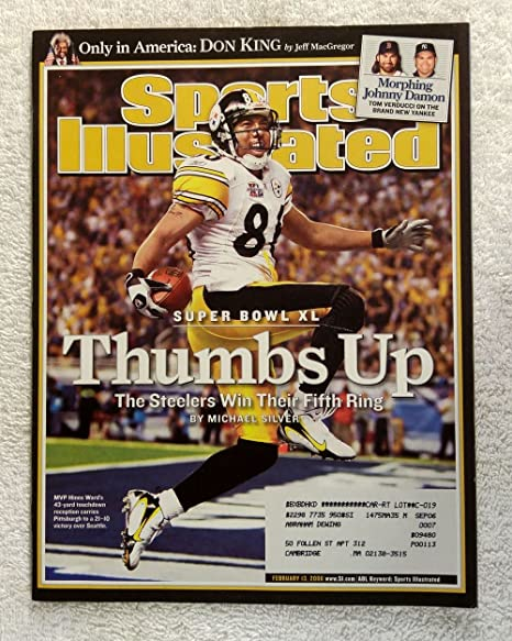 230be7dc632 Amazon.com: Hines Ward - Pittsburgh Steelers - Super Bowl XL Champions! -  Sports Illustrated - February 13, 2006 - Seattle Seahawks - SI: Sports ...