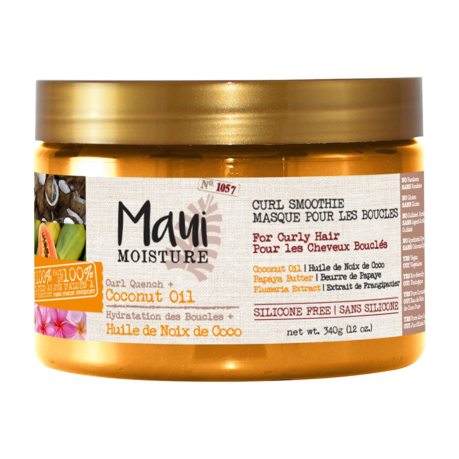 Maui Moisture Curl quench + coconut oil curl smoothie, 340g Vogue International 100026914